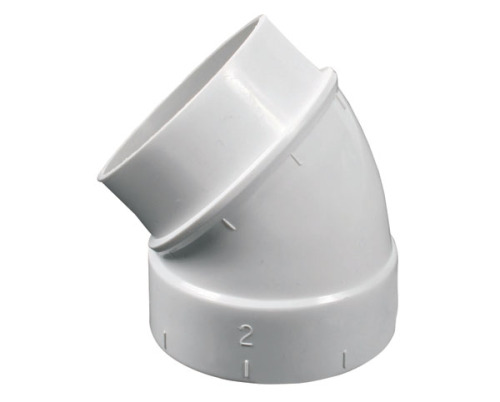 45 Degree Elbow Spigot White