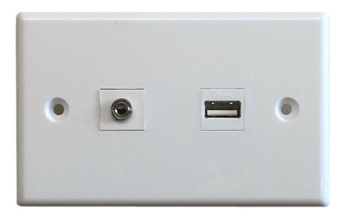 Wallplate to suit USB Receiver Kit