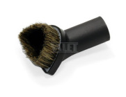 Dusting brush w/natural fill - half-circle brush